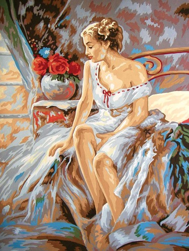 Needlepoint Canvas 30x40cm Gracious Lady