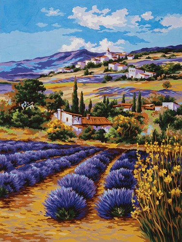 10459 Needlepoint Canvas 30x40cm Lavender Fields