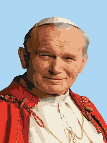 Needlepoint Canvas 30x40cm Pope John Paul