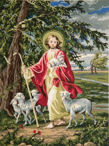 Needlepoint Canvas 30x40cm The Lord is our Shepherd
