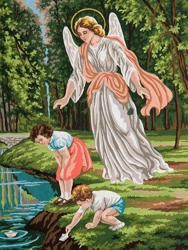 10480 Needlepoint Canvas 30x40cm Guardian Angel