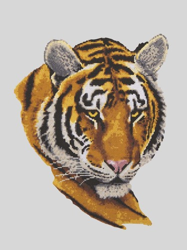 10484 Needlepoint Canvas 30x40cm Tiger Portrait