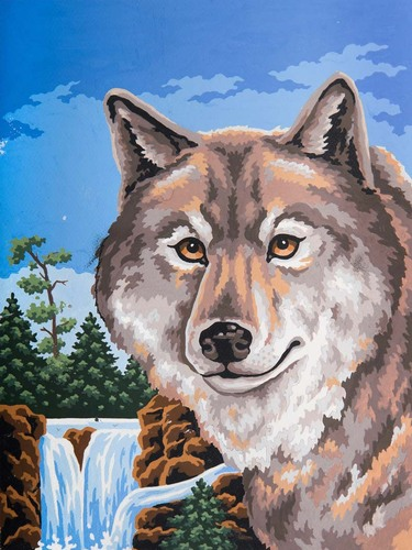 10487 Needlepoint Canvas 30x40cm Wolf portrait