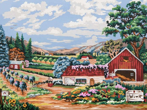 10492 Needlepoint Canvas 30x40cm Vinyard