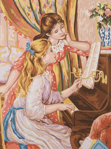 10497 Needlepoint Canvas 30x40cm Girls at the piano (Renoir)
