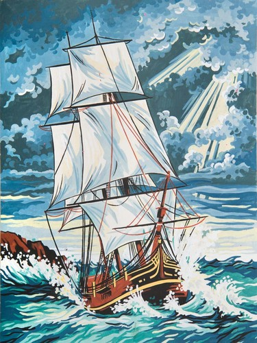 Needlepoint Canvas 30x40cm Stormy Seas