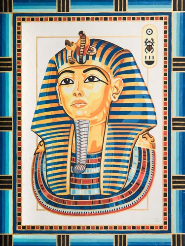 10499 Needlepoint Canvas 30x40cm King Tutankhamun