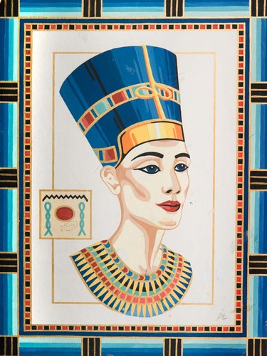 10500 Needlepoint Canvas 30x40cm Queen Nefertiti