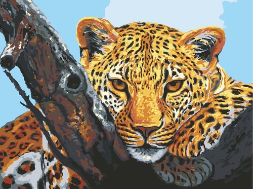 10501 Needlepoint Canvas 30x40cm Leopard Look