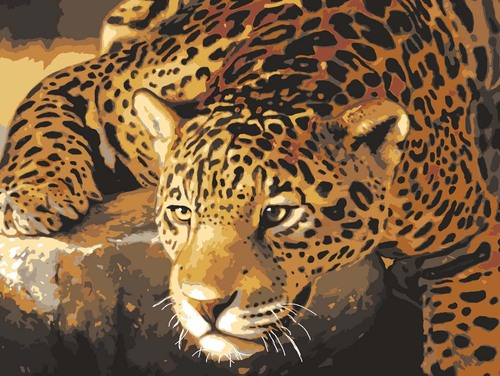 Needlepoint Canvas 30x40cm Jaguar Prowl