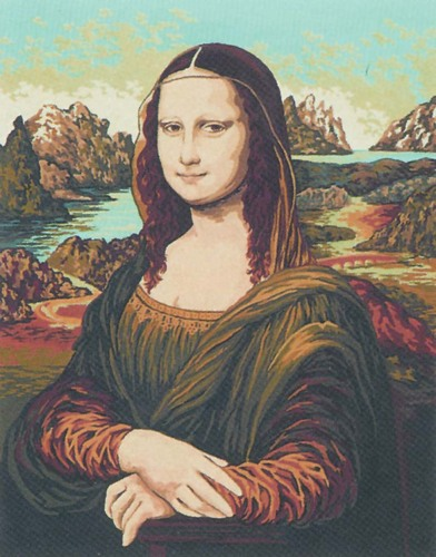 11358 Needlepoint Canvas 50x40cm Mona Lisa (Da Vinci)