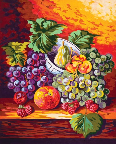 11472 Needlepoint Canvas 50x40cm Still Life Fruit