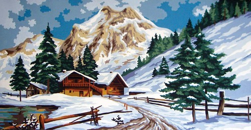 Needlepoint Canvas 30x52cm Winter Time