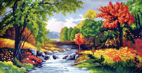 11563 Needlepoint Canvas 30x52cm Autumn Time