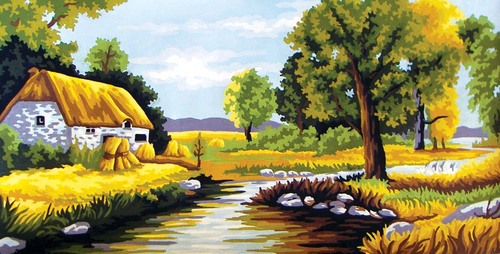 11564 Needlepoint Canvas 30x52cm Summer Time