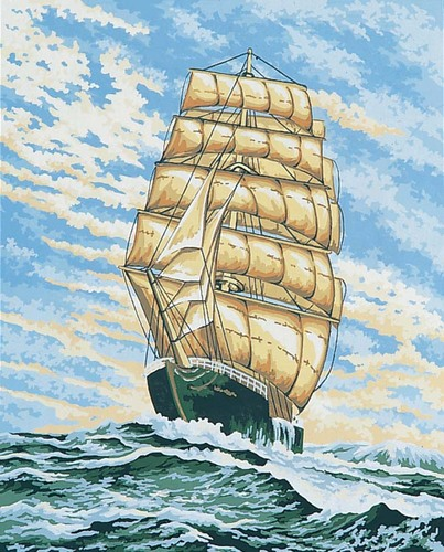 11844 Needlepoint Canvas 50x40cm Under Full Sail