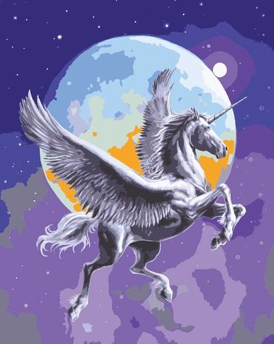 11852 Needlepoint Canvas 50x40cm Moonlight Pegasus