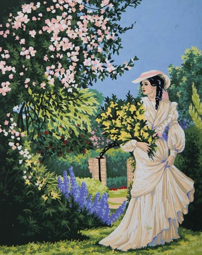 11870 Needlepoint Canvas 50x40cm Garden Stroll