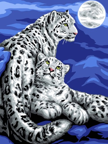 11886 Needlepoint Canvas 50x40cm Snow Leopards