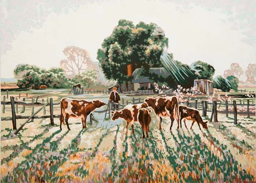 Needlepoint Canvas 50x70cm Spring Frost (Elioth Gruner)