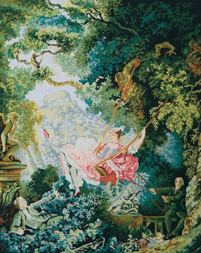 Needlepoint Canvas 50x70cm The Swing (Fragonard)
