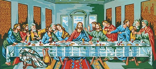 13901 Needlepoint Canvas 50x100cm The Last Supper