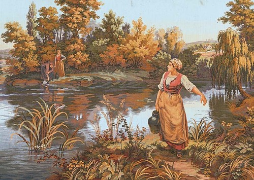 Needlepoint Canvas 50x80cm The Water Carrier