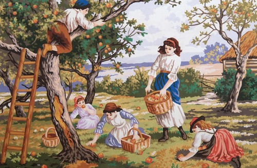 Needlepoint Canvas 50x80cm Orchard Days