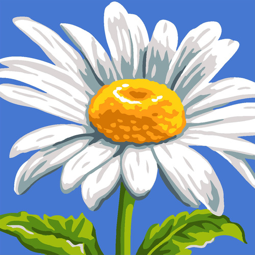 Needlepoint Canvas 40x40cm Sunshine Daisy Pillow Top