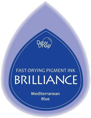 BD-000-018 Brilliance Dew Drops inkpads Mediterremian blue