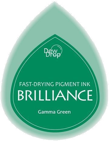 BD-000-021 Brilliance Dew Drops inkpads Gamma green