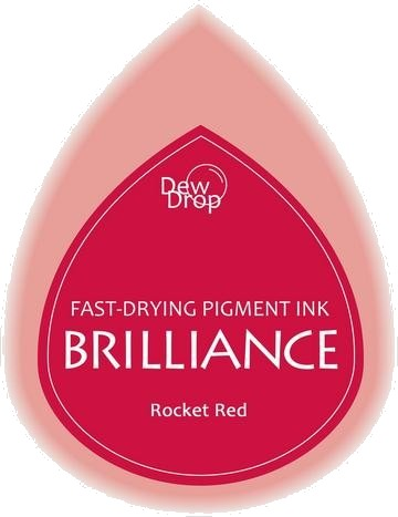 BD-000-023 Brilliance Dew Drops inkpads Rocket Red