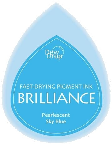 BD-000-038 Brilliance Dew Drops inkpads Pearlescent Sky blue