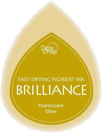 BD-000-053 Brilliance Dew Drops inkpads Pearlescent Olive