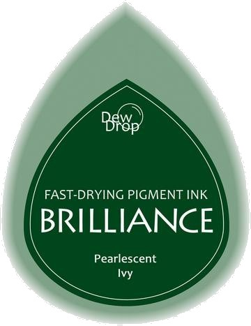 BD-000-064 Brilliance Dew Drops inkpads Pearlescent Ivy