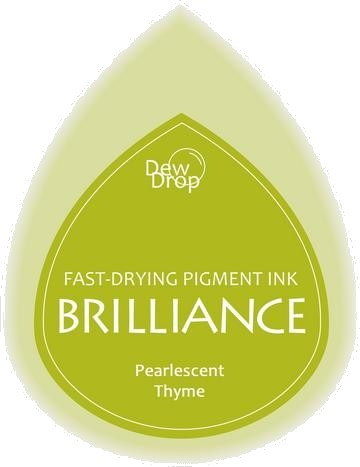 BD-000-075 Brilliance Dew Drops inkpads Pearlescent Thyme
