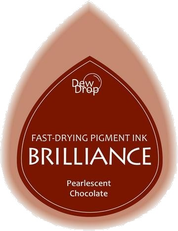 BD-000-076 Brilliance Dew Drops inkpads Pearlescent Chocolate