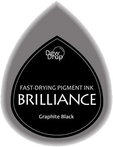 BD-000-082 Brilliance Dew Drops inkpads Graphite black