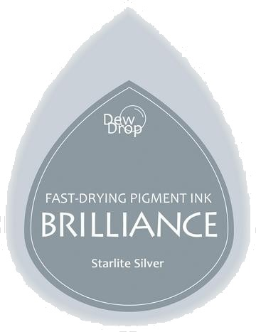 BD-000-093 Brilliance Dew Drops inkpads Starlight silver