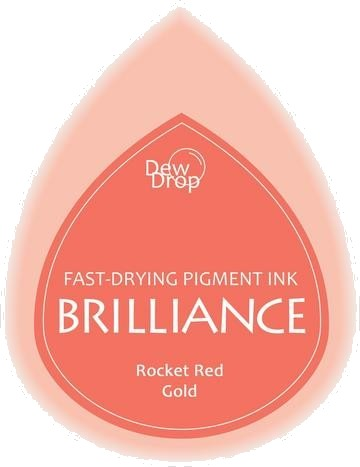 BD-000-096 Brilliance Dew Drops inkpads Rocket Red gold