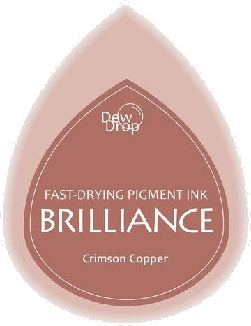 BD-000-097 Brilliance Dew Drops inkpads Crimson copper
