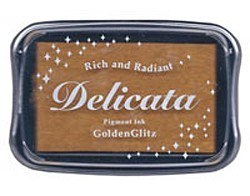 DE-000-191 Inkpad Delicata set metallic Golden Glitz