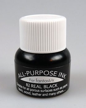 FX-000-082 All Purpose ink (bottle) Real black