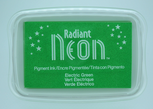 NR-000-77 Radiant Neon inkpads Electric green