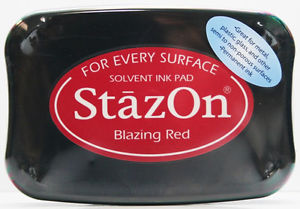 SZ-000-021 Stazon Ink pad blazing red