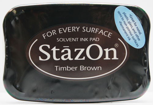 SZ-000-041 Stazon Ink pad timber brown
