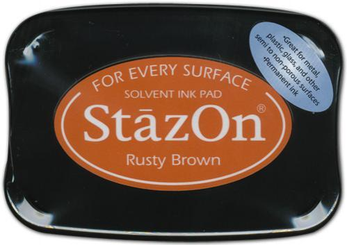 SZ-000-042 Stazon Ink pad rusty brown