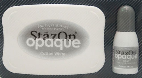 SZ-000-110 Stazon inkpad set opaque Cotton white