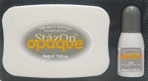 SZ-000-111 Stazon inkpad set opaque Napoli Yellow