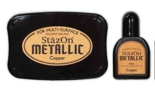 SZ-000-193 Stazon inkpad set metallic Copper